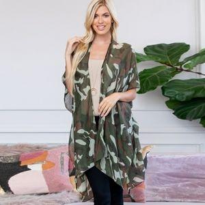 NWT Camo Knee Length Kimono